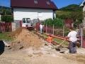 Výstavba kanálu pri pravoslávnom kostole