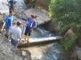 Oprava vodovodného potrubia - časť dolina