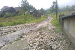 Oprava cesty po vyliatí potoka - časť Reka