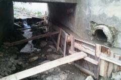 Spevňovanie základov mostov - časť potok